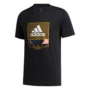 Camisa Adidas Estampada Future Hoops Masculina Preta