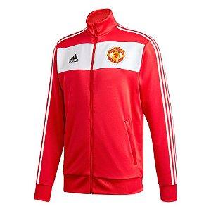Jaqueta Adidas 3-Stripes Manchester United Masculina Vermelha