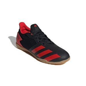 Chuteira Futsal Adidas Predator 20.4 Masculina Preta e Vermelha