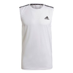 Regata Aeroready Designed To Move 3-Stripes Masculina Branca