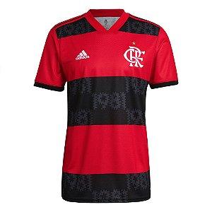 Camisa Oficial Adidas CR Flamengo Masculina Vermelha
