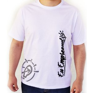Camiseta Eu Empreendo Masculina Padrão - Branca