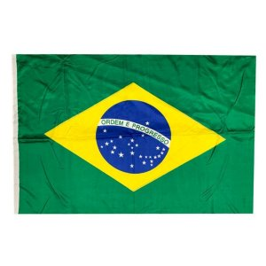 Bandeira Brasil Média 40x60 Com Haste - Classe