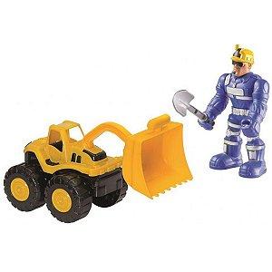 Boneco Com Carrinho Work Force Constructor - Bs Toys