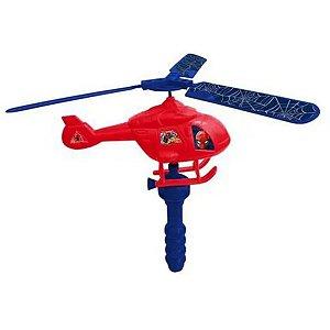 Helicóptero Com Lançador A Corda Homem Aranha - Etitoys