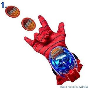Luva Lança Discos - Homem Aranha, Homem De Ferro, Hulk