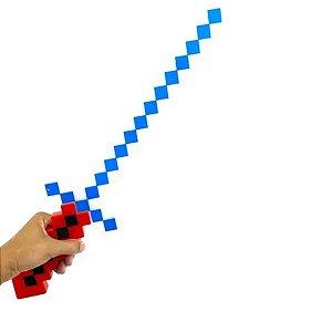Espada Estilo Minecraft Brinquedo C/ Luz e Som