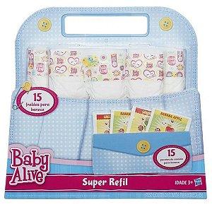 Acessórios Baby Alive - Super Refil de Fralda e Comidinha - Hasbro