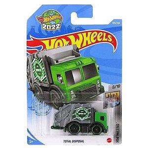 Carrinho Total Disposal Hot Wheels - Mattel caminhão de Lixo