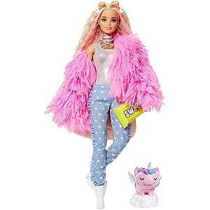 Barbie Extra Jaqueta Rosa - Sweet - Mattel