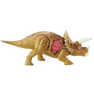 Dinossauro Jurassic World Triceratops - Battle Damage - Mattel