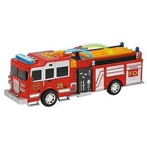 Caminhão De Bombeiro Bate E Volta Som Luzes 30 Cm - Dm Toys