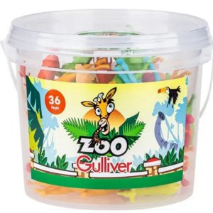 Animais Zoo com 36 Miniaturas - Gulliver