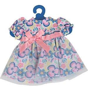Roupinha Baby Alive - Vestido Florzinha Rosa Com Tule - Cotiplás