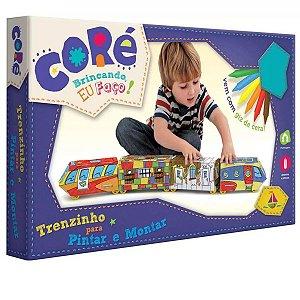 Trenzinho Para Pintar e Montar Coré Brincando Eu Faço - Toyster