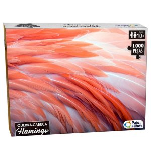 Quebra-Cabeça Flamingo 1000 Peças - Pais e Filhos