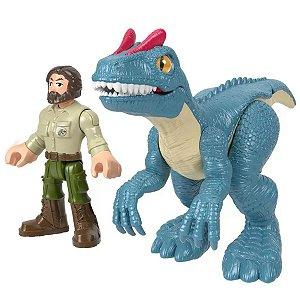 Imaginext Jurassic World - Allosaurus e Guarda Florestal - Mattel