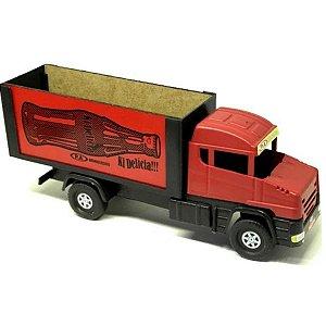 Mini Caminhão Furgão De Madeira - PA Brinquedos