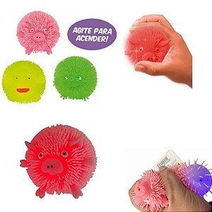 2 Fidget Toy Flofys Bolota Bichos Macios de apertar com luz