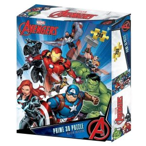 Quebra-Cabeça 3D Os Vingadores Zipper Box 200 Peças