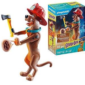 Playmobil Scooby-Doo Bombeiro Figura Colecionável 10Pçs- Sunny