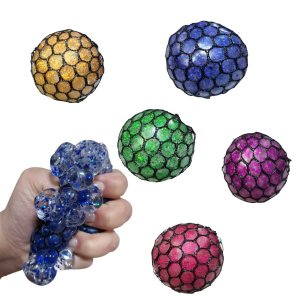 Fidget Toy Smesh Ball Anti Stress Com Glitter