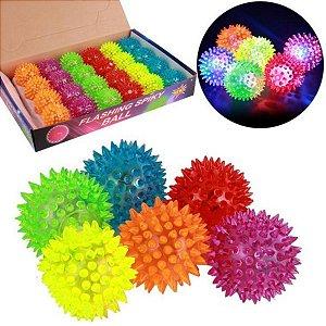 Fidget Toys Bola Neon De Luz Com Som Cores Sortidas Kit Com 2