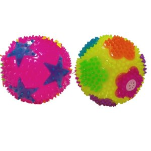 Fidget Toys Bola De Luz Com Som Cores Sortidas Kit Com 2