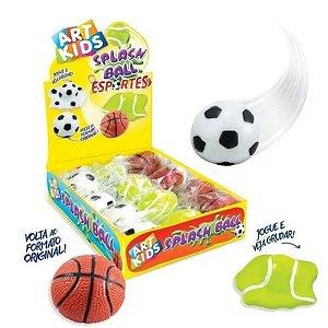 Splash Ball Esportes Bola Basquete, Futebol, Tênis Grudenta-Acrilex