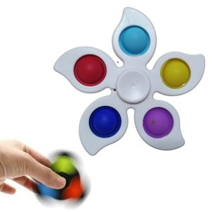 Fidget Toys Chaveiro Pop It Spinner Flor
