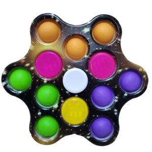 Fidget Toys Chaveiro Pop It Spinner Com Luz