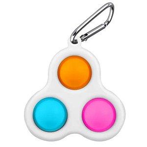 Fidget Toy Chaveiro Pop It Anti Stress Triple Dimple