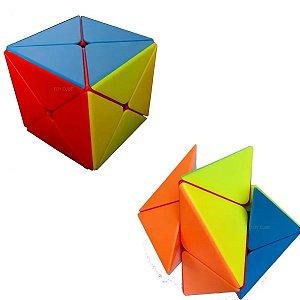 Cubo Mágico Skewb Sticklerless