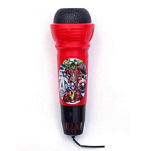 Microfone Com Eco Avengers - Etitoys