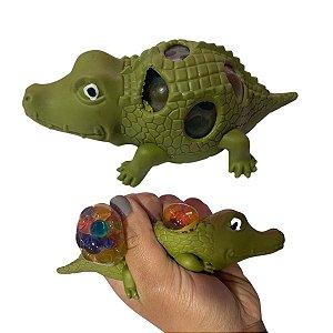Squish Fidget Toy Bola Anti Estress  Jacaré com Orbs Sortido