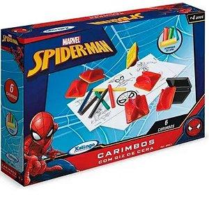 Carimbos Spider-man Com Giz De Cera - Xalingo