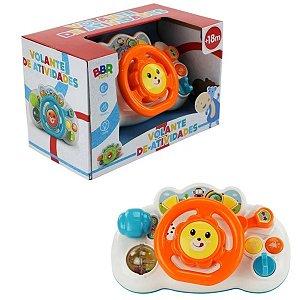 Volante Brinquedo Infantil De Atividades Som E Luzes Bbr Toy