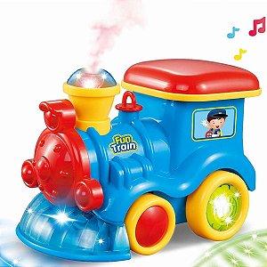 Trenzinho Musical Bate e Volta Com Luzes - Bbr Toys