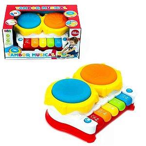 Piano Tambor Musical Infantil Brinquedo Educativo - Bbr Toys