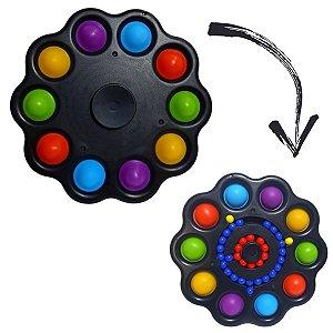 Fidget Toys 3 Em 1 - Spinner Pop It Cube