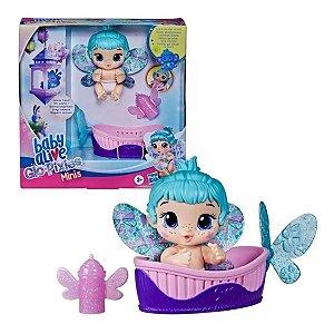 Boneca Baby Alive Glo Pixies Minis - Aqua Flutter - Hasbro