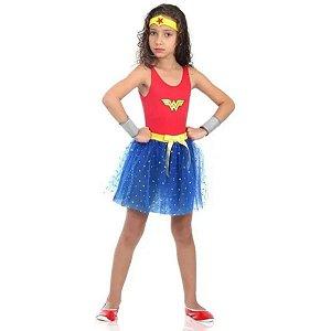 Fantasia Mulher Maravilha Dress Up Infantil - Sulamericana