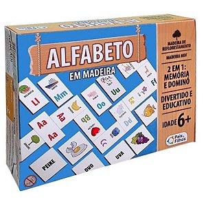 Jogo Educativo 2 Em 1 Alfabeto Em Madeira - Pais & Filhos