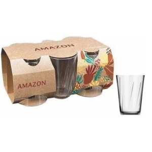 Conjunto De 6 Copos De Vidro 190 Ml Amazon - Nadir Figueiredo