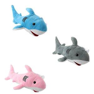Tubarão De Pelúcia C/ Ventosa Cores Variadas - BBR Toys