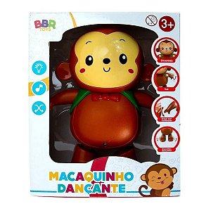 Macaquinho Dançante Divertido Musical E Luz - BBR Toys