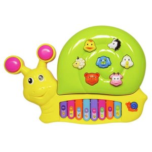 Piano Infantil Musical Caracol Divertido - DM Toys