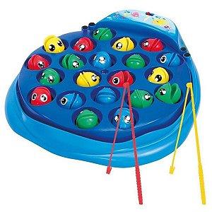 Jogo Pescaria Divertida 21 Peixinhos c/ Vara - DM Toys