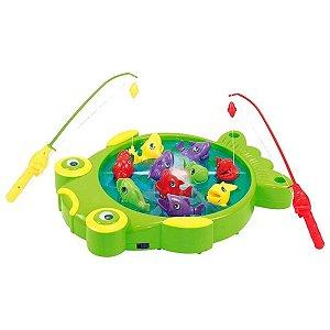 Jogo De Pesca Pescaria Divertida C/10 Peixinhos - DM Toys