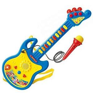 Guitarra Musical Com Microfone 3 Modos - Dm Toys